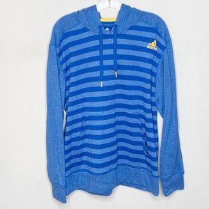 Adidas Climawarm Blue Striped Hoodie Sweatshirt